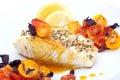 Pan fried halibut Royalty Free Stock Photo