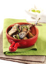 Pan fried mackerel Stock Photo