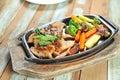 Pan fried pork Fotografia de Stock Royalty Free