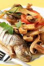 Pan fried trout Royalty Free Stock Photo