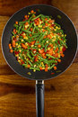 Pan-fried vegetables Royalty Free Stock Photo