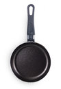 Pan with handle isolated black on white background Royalty Free Stock Photos