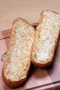 Pan y tomates de ajo Imagenes de archivo