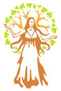 Panacea - ancient Greek goddess. Stock Photography