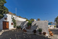 Panagia Episkopi Church in Santorini island, Thira, Greece Royalty Free Stock Photo
