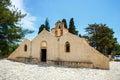 Panagia Kera in the village Kritsa, Crete, Greece Royalty Free Stock Photo