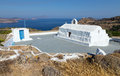 Panagia Tourliani chapel, Milos island, Cyclades, Greece Royalty Free Stock Photo