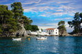 Panagias island in parga greece view on Stock Photo