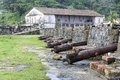 Panamà old fort san jerónimo in portobelo colón province june cannons the Stock Photography