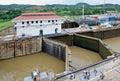 Panama Canal Locks Royalty Free Stock Photo