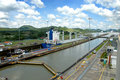 Panama Canal locks Royalty Free Stock Photo