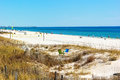 Panama city beach florida feb goers enjoy and blue water of the gulf of mexico is a very popular spring Stock Image
