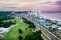 Panama City Beach, Florida, view of Front Beach Road Royalty Free Stock Photo