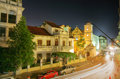 Panama city casco viejo in the night Stock Images