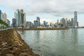 Panama city downtown skyline Royalty Free Stock Photo