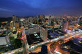 Panama city may stunning view of in the twilight in on may is main commercial area in all the Stock Photos