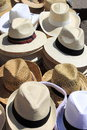 Panama hats Stock Photography