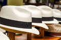 Panama hats Royalty Free Stock Photo