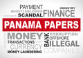 Panama papers scandal 2016 - word cloud graphic