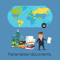 Panamanian Documents Scandal Concept Flat Vector