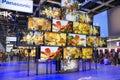 Panasonic k ultra hd tv wall with tvs on ifa berlin Stock Images