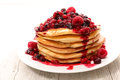 Pancake with berries fruits Royalty Free Stock Photo
