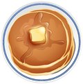 Pancake with butter on the plate Royalty Free Stock Photo