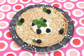 Pancake a with cream and blackberries Stock Photo