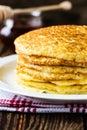 Pancake. Pancakes stack, traditional Russian pancakes - blini Royalty Free Stock Images