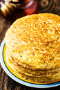 Pancake. Pancakes stack, traditional Russian pancakes - blini Stock Photos