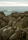 Pancake rocks in punakaiky new zealand Stock Photo