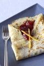 Pancake with strawberry jam Royalty Free Stock Image