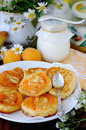 Pancakes with apricot inside.