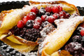 Pancakes with berries Royalty Free Stock Image
