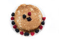Pancakes with berry fruits Royalty Free Stock Photo