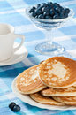 Pancakes With Blueberries Royalty Free Stock Photography