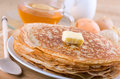 Pancakes with butter Stock Photo