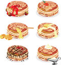 Pancakes with different fillings Royalty Free Stock Image