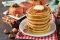 Pancakes with honey Royalty Free Stock Photo