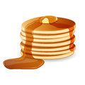 Pancakes illustration of with maple syrup and butter Royalty Free Stock Image