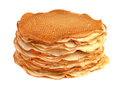 Pancakes isolated on white background Stock Photography