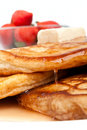 Pancakes with maple syrup Stock Images