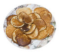 Pancakes on plate Royalty Free Stock Photos