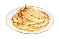 Pancakes on a plate Stock Photography