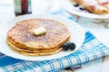 Pancakes on a plate Royalty Free Stock Images