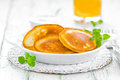 Pancakes on a plate breakfast Royalty Free Stock Photo