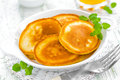 Pancakes on a plate breakfast Stock Images