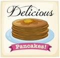 Pancakes poster Royalty Free Stock Photo