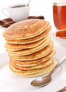 Pancakes stack Royalty Free Stock Photos