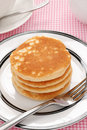 Pancakes stack of plain buttermilk no butter or syrup Royalty Free Stock Photography